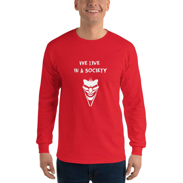 We Live In a Society Long Sleeve T-Shirt shopyourmeme Red S