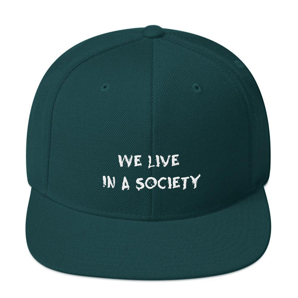 We Live In a Society Snapback shopyourmeme Spruce