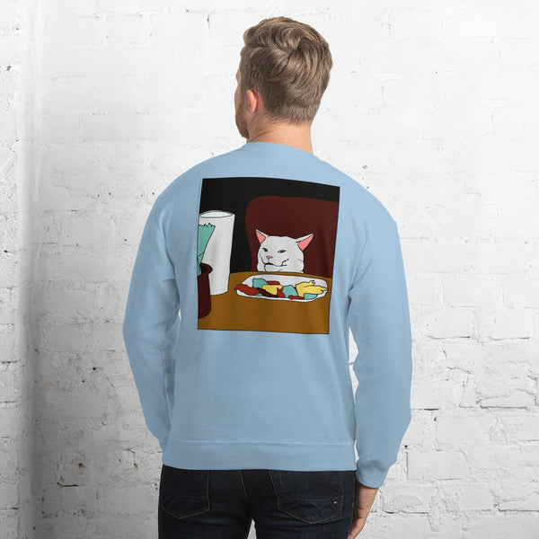 Woman Yelling At A Cat 2 Sided Sweatshirt The Meme Store