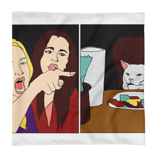 Woman Yelling At A CatPillow Case The Meme Store 18×18