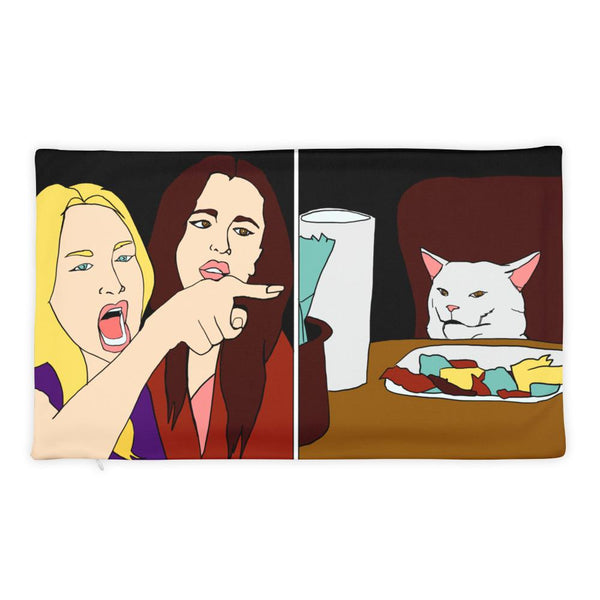 Woman Yelling At A CatPillow Case The Meme Store 20×12