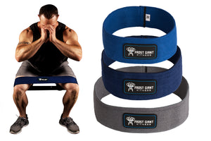 Hip Resistance Exercise Loop Band Set ~ Heavy Weight | Bonus Bag + Workout Book