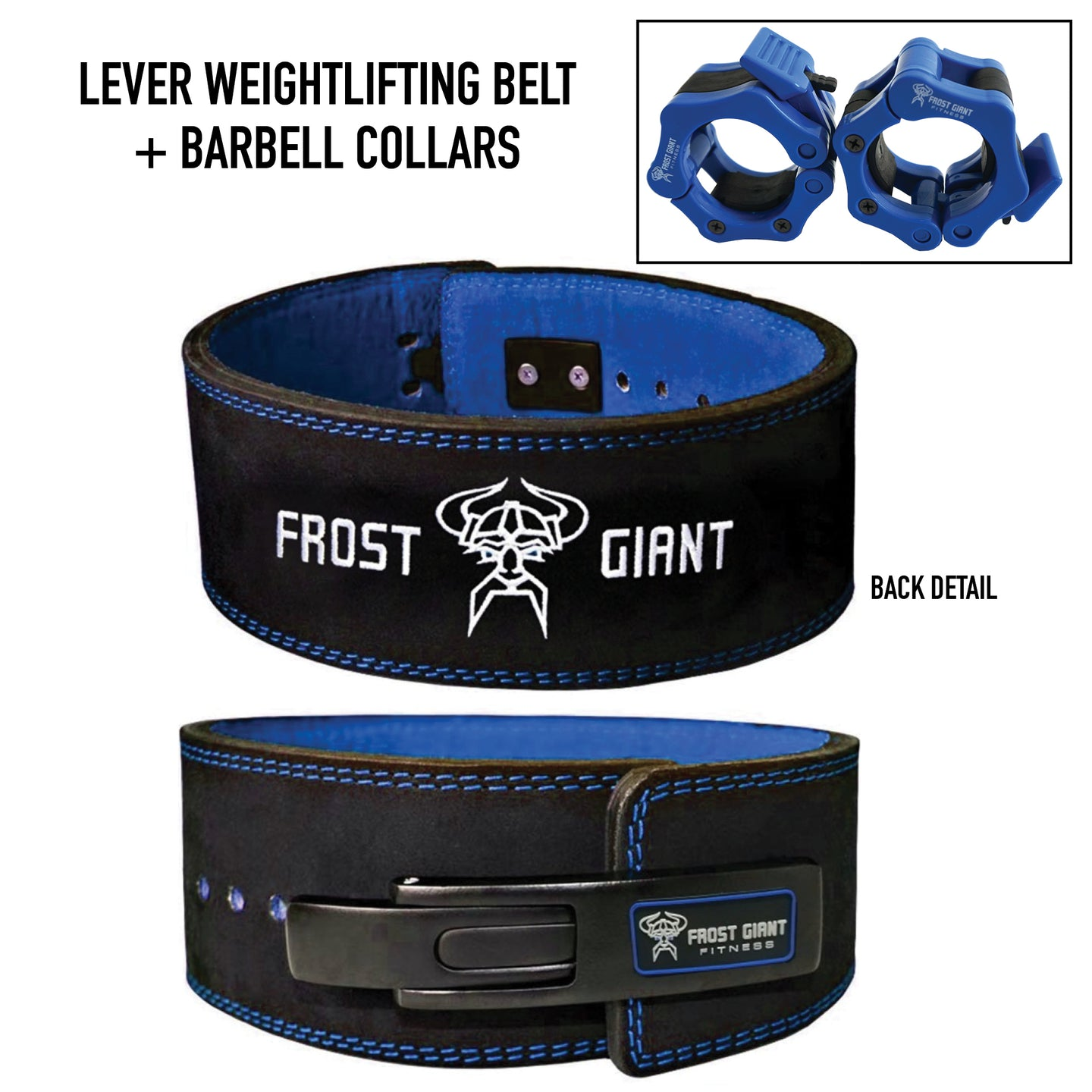 Lever Weightlifting Belt Premium Suede Leather 8 MM With Free Barbell Clamps