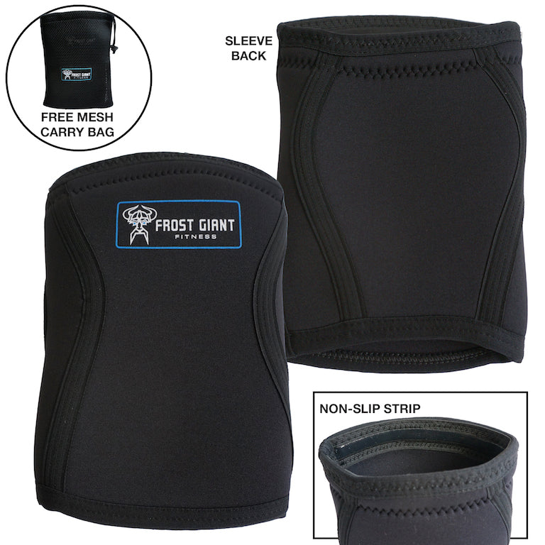 Knee Sleeve - Heavy Duty-5mm Neoprene Weightlifting, Crossfit, Powerlifting