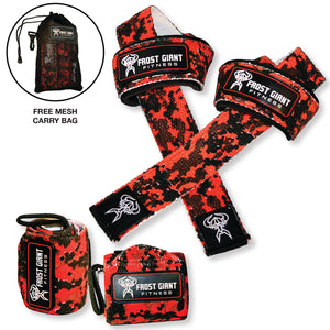 Wrist Wraps and Lifting Straps Combo