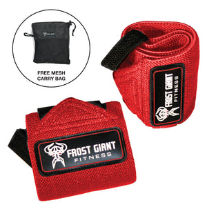 Premium Wrist Wraps Set w/ Mesh Carry Bag
