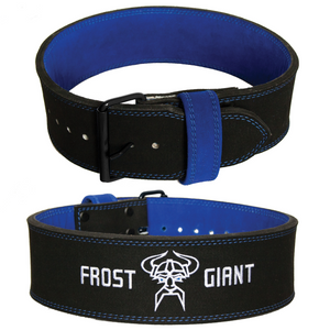 Weightlifting 10 MM Belt | Single Prong Powerlifting, Deadlift, Squat With Free Blue Lifting Straps