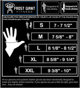 Weight Lifting Gym Gloves by Frost Giant Fitness – Sizes S-2XL