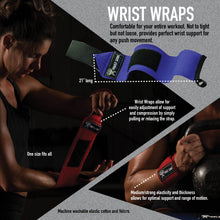 Load image into Gallery viewer, Wrist Wraps and Lifting Straps Combo