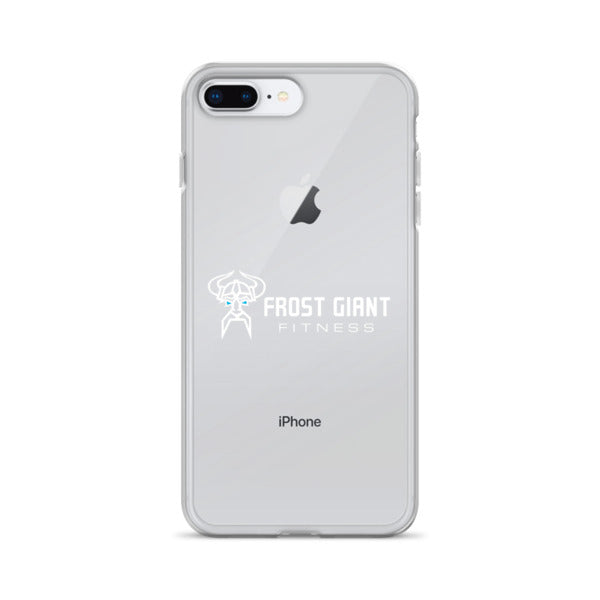 Clear iPhone Case White Logo