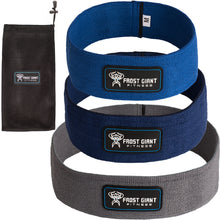 Load image into Gallery viewer, Hip Resistance Exercise Loop Band Set ~ Heavy Weight | Bonus Bag + Workout Book