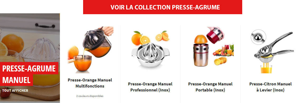 Collection Presse-Agrume Manuel