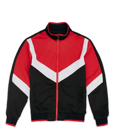 Motocross Track Jacket - Black/Red - Reason Clothing