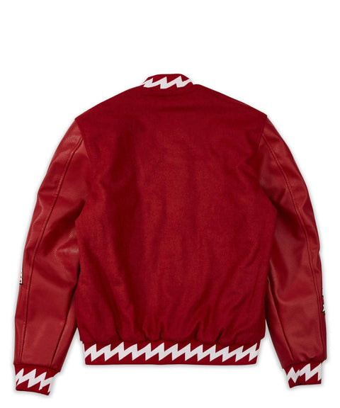DISRUPTION BOMBER - RED/WHITE - Reason Clothing