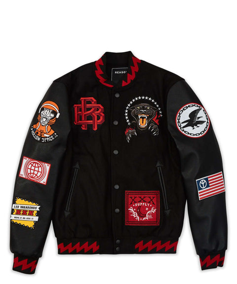 DISRUPTION BOMBER - BLACK/RED - Reason Clothing