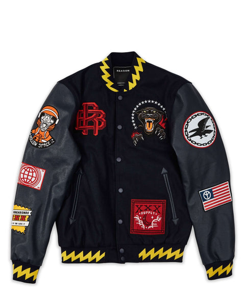 DISRUPTION BOMBER - NAVY/YELLOW Reason Clothing