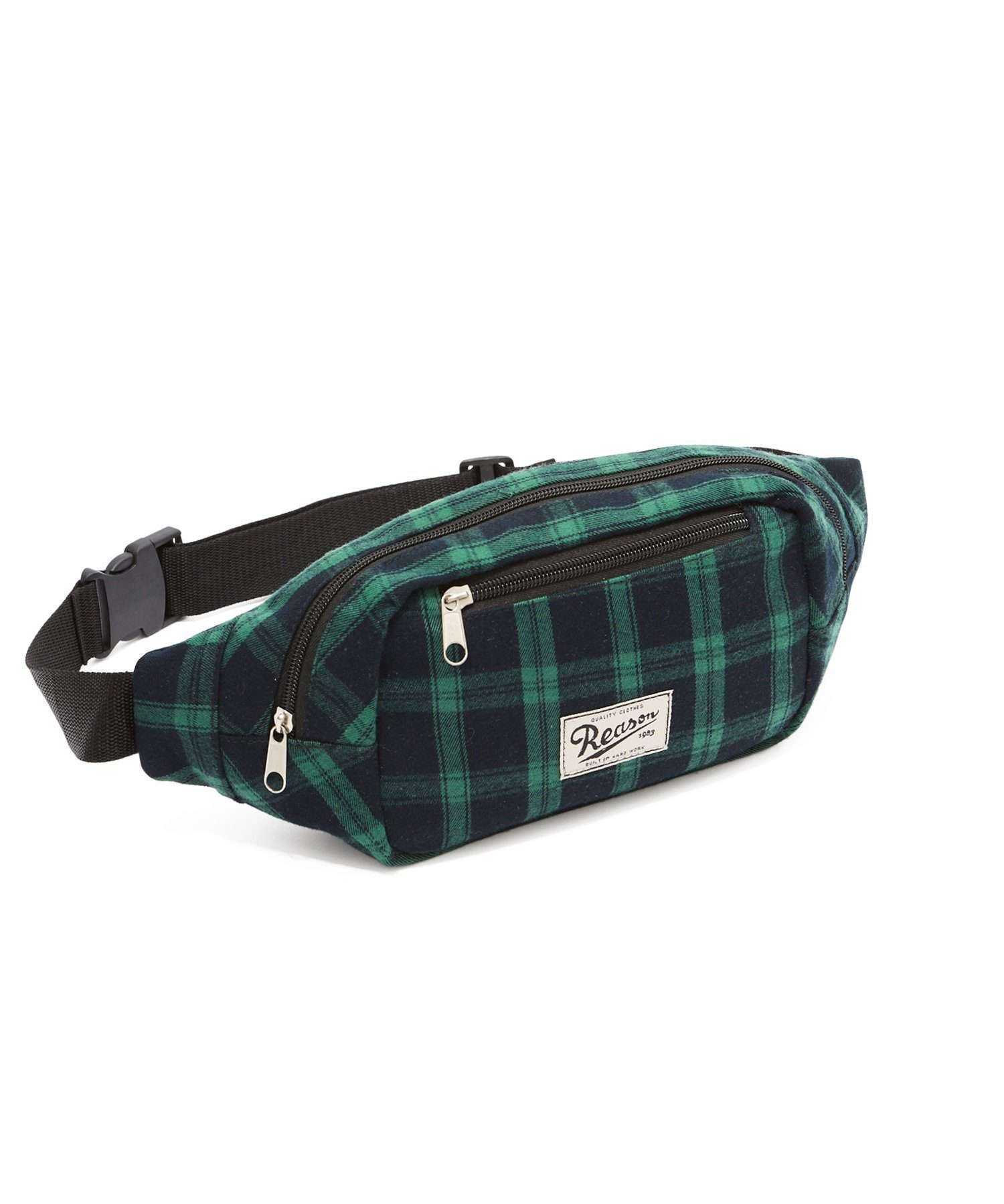 PLAID BELT BAG - GREEN Reason Clothing