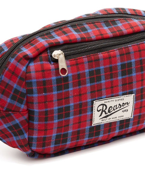 REASON CHECKER FANNY PACK - RED