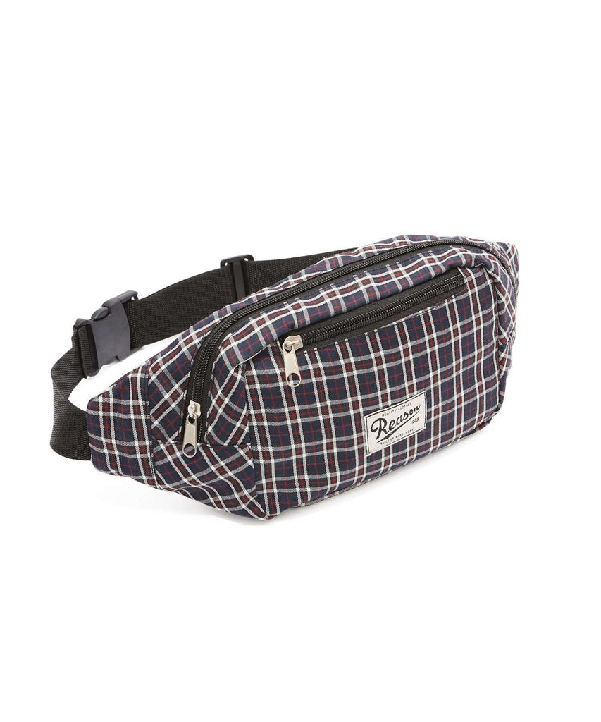 REASON CHECKER FANNY PACK - BLUE/RED Reason Clothing