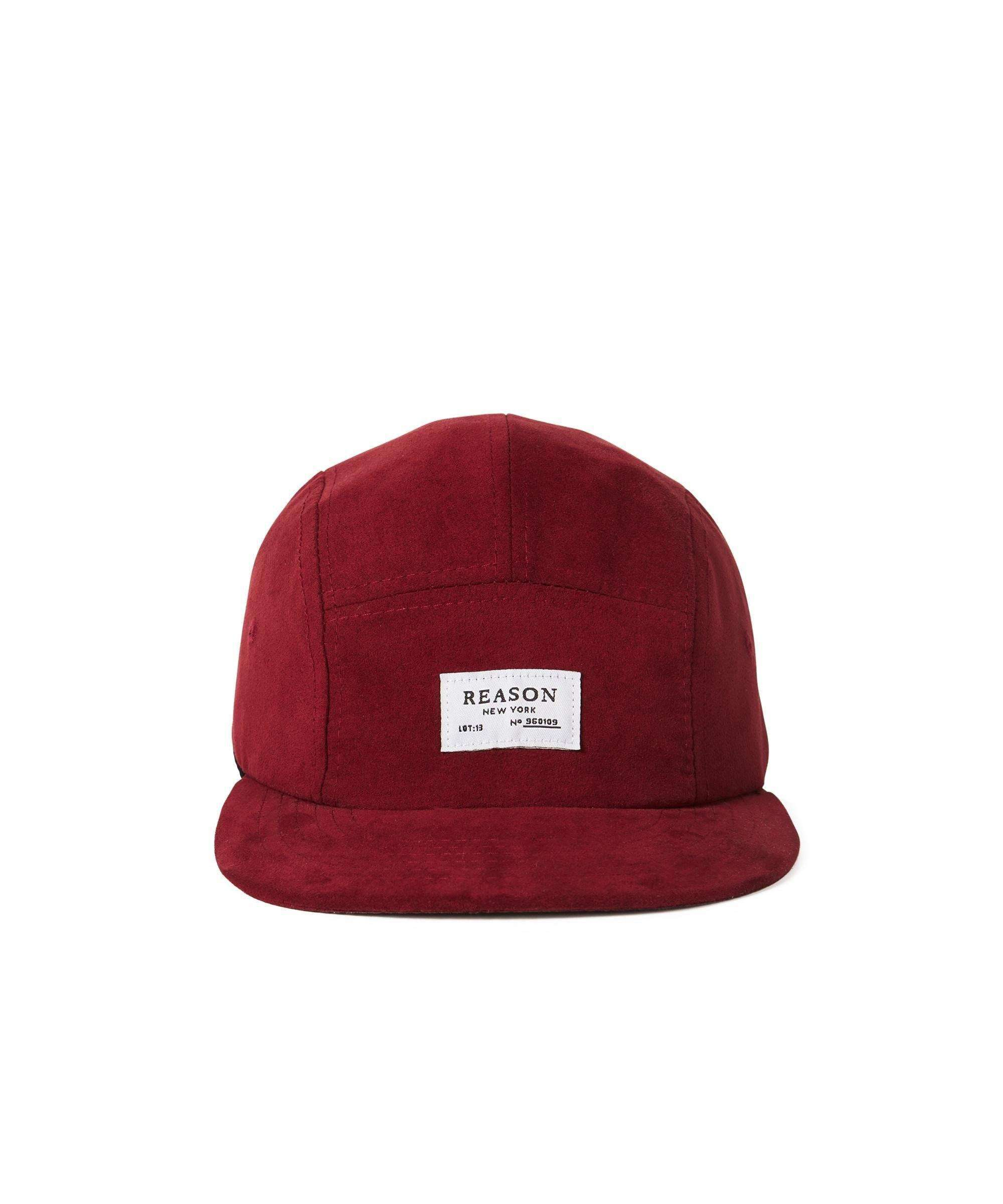 SUEDE CAP - BURGUNDY Reason Clothing