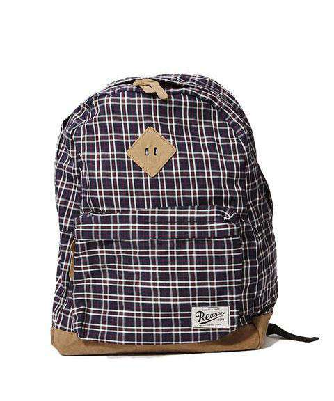 REASON CHECKER BACKPACK - BLUE Reason Clothing