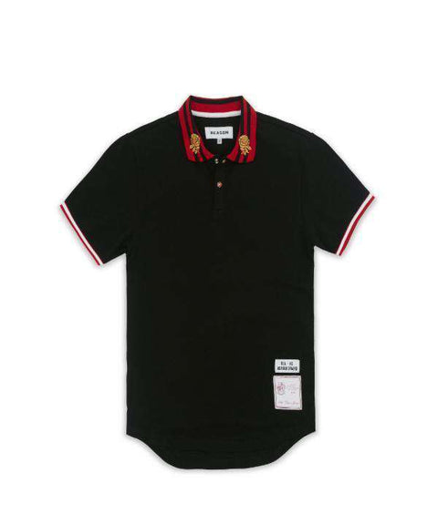 CASTAWAY POLO  - BLACK - Reason Clothing