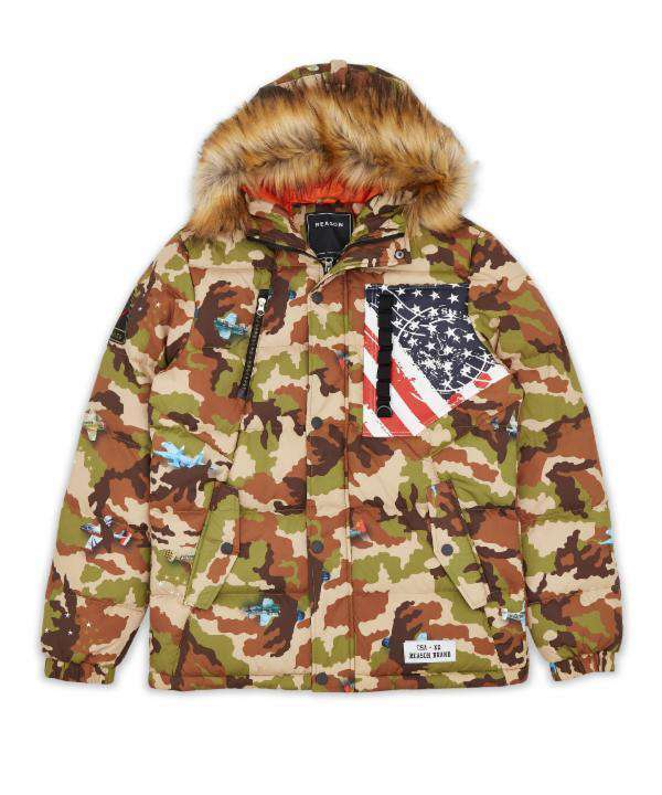 Camo Aviation Puffer - Reason Clothing