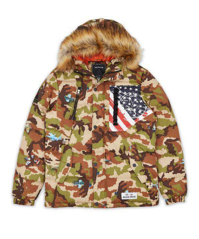 Camo Aviation Puffer Reason Clothing