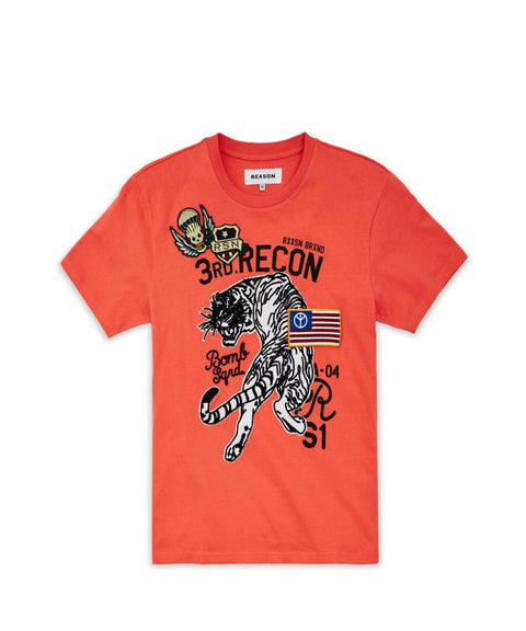 BATTALLION TEE-CORAL - Reason Clothing