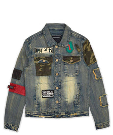 CAMO DENIM JACKET Reason Clothing