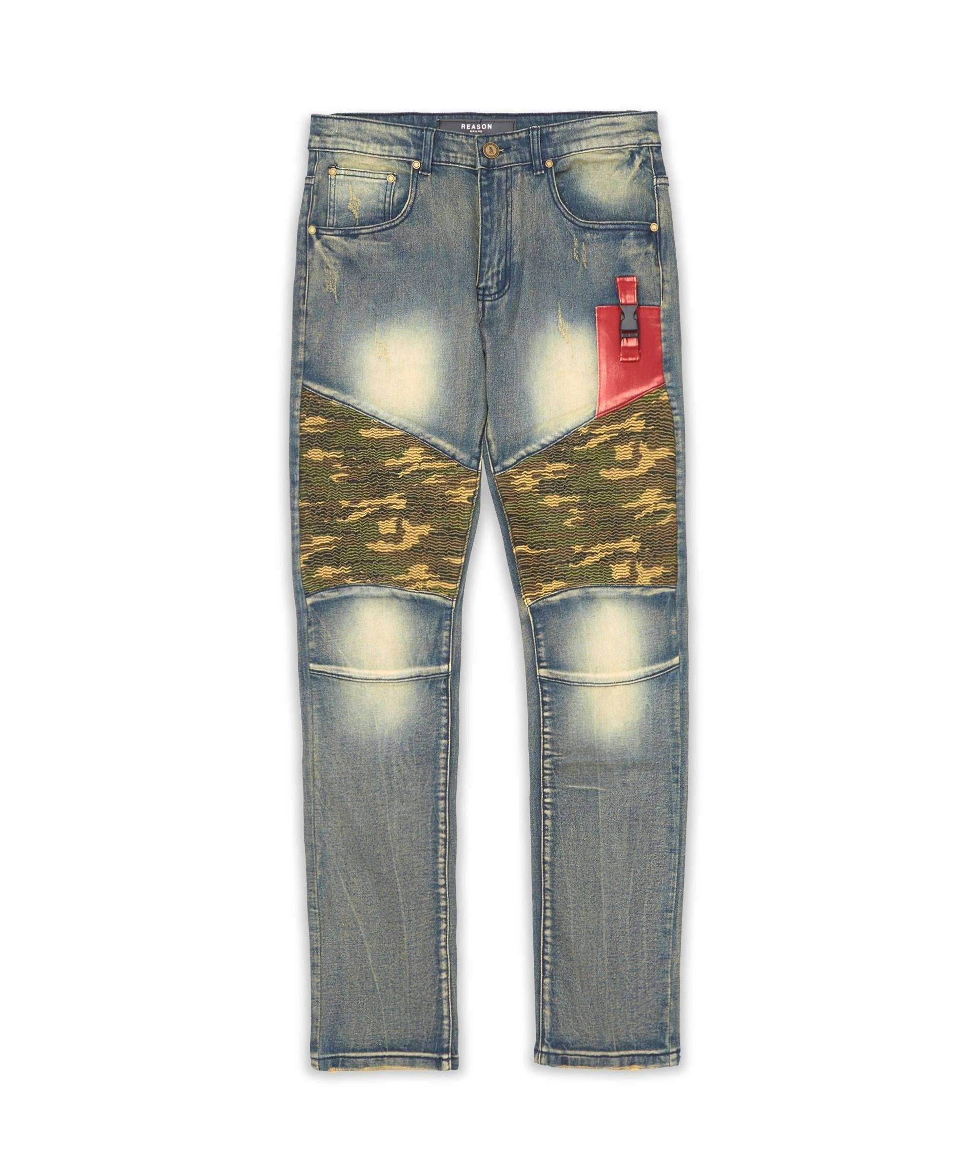 CAMO DENIM PANTS Reason Clothing