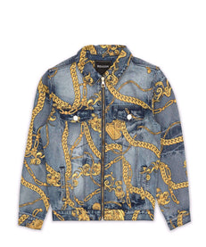 CHAIN DENIM JACKET Reason Clothing
