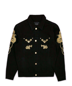 GOLD LEAF DENIM JACKET Reason Clothing