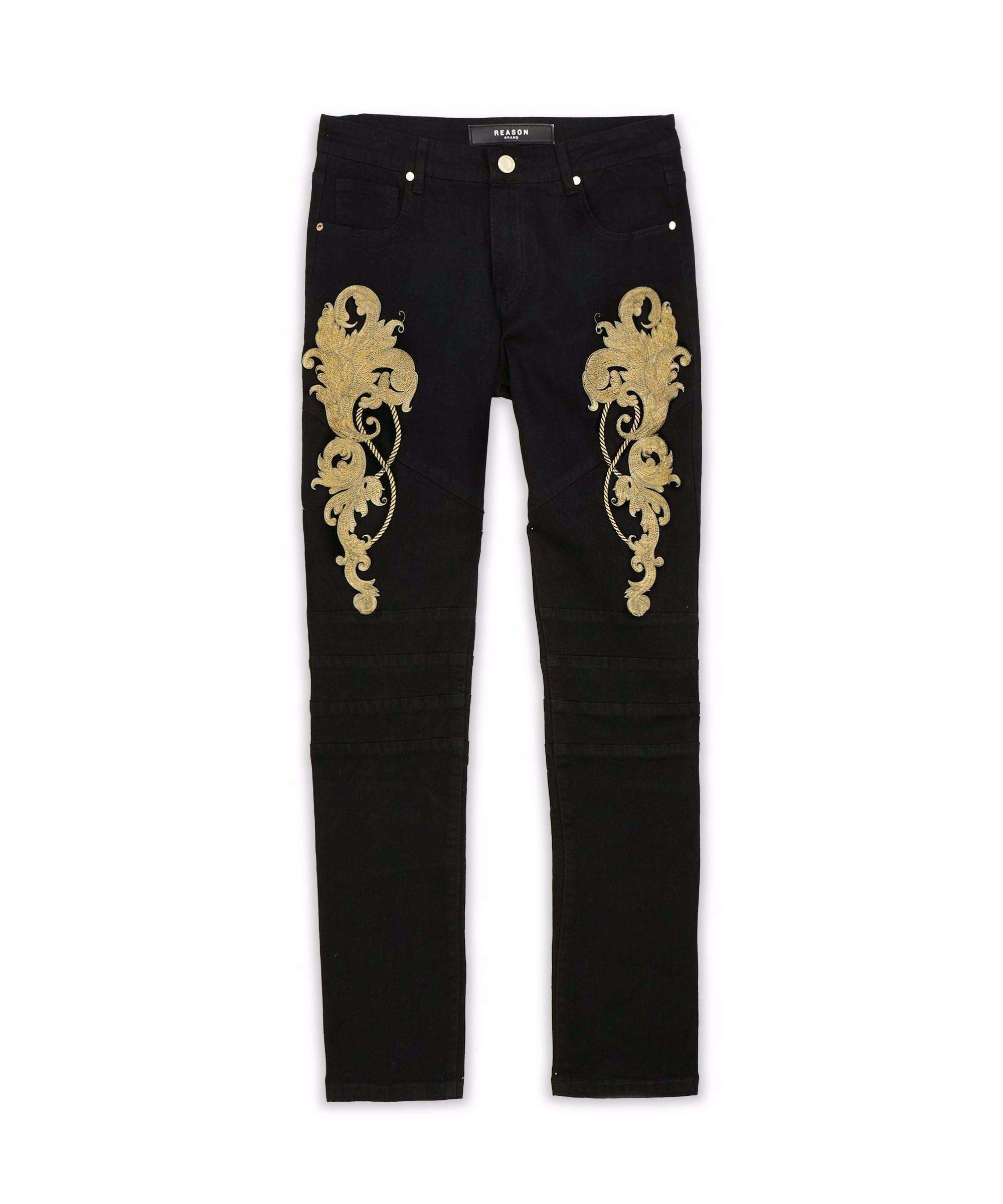 GOLD LEAF DENIM JEAN Reason Clothing