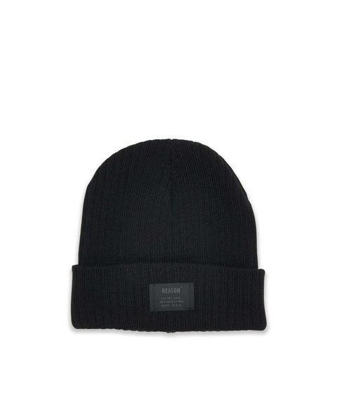 TONAL CORE BEANIE - BLACK Reason Clothing