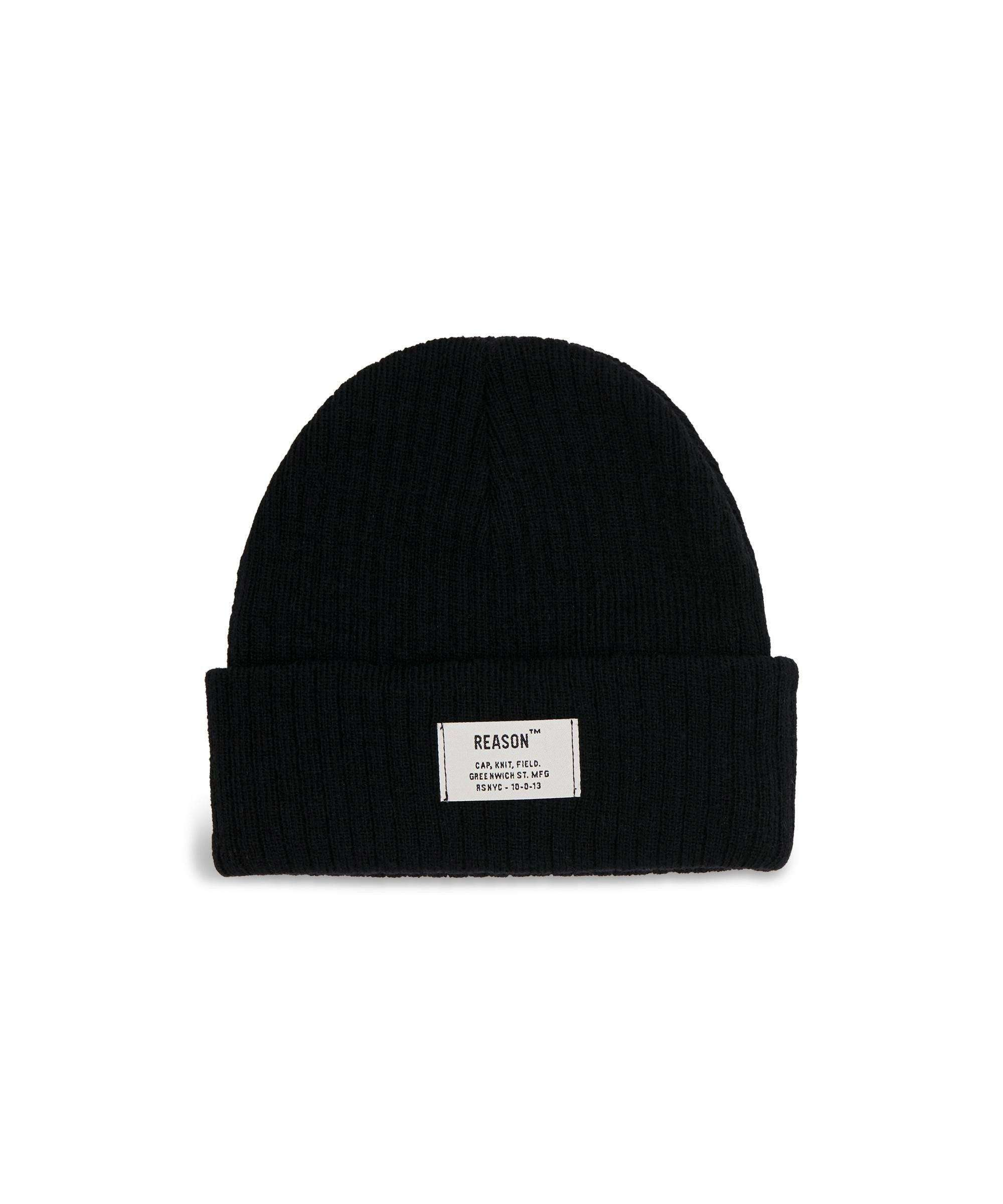 INDUSTRIAL BEANIE-BLACK - Reason Clothing