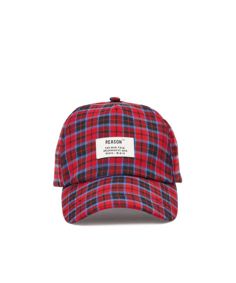 CHECK DAD CAP - RED/BLUE Reason Clothing