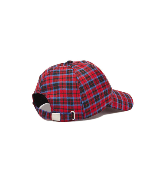 CHECK DAD CAP - RED/BLUE - Reason Clothing