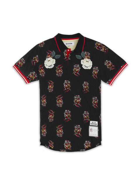 DIABLO POLO-BLACK - Reason Clothing