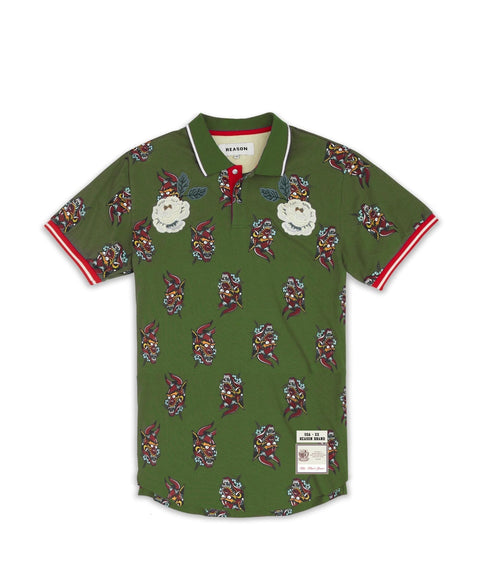 DIABLO POLO - OLIVE - Reason Clothing