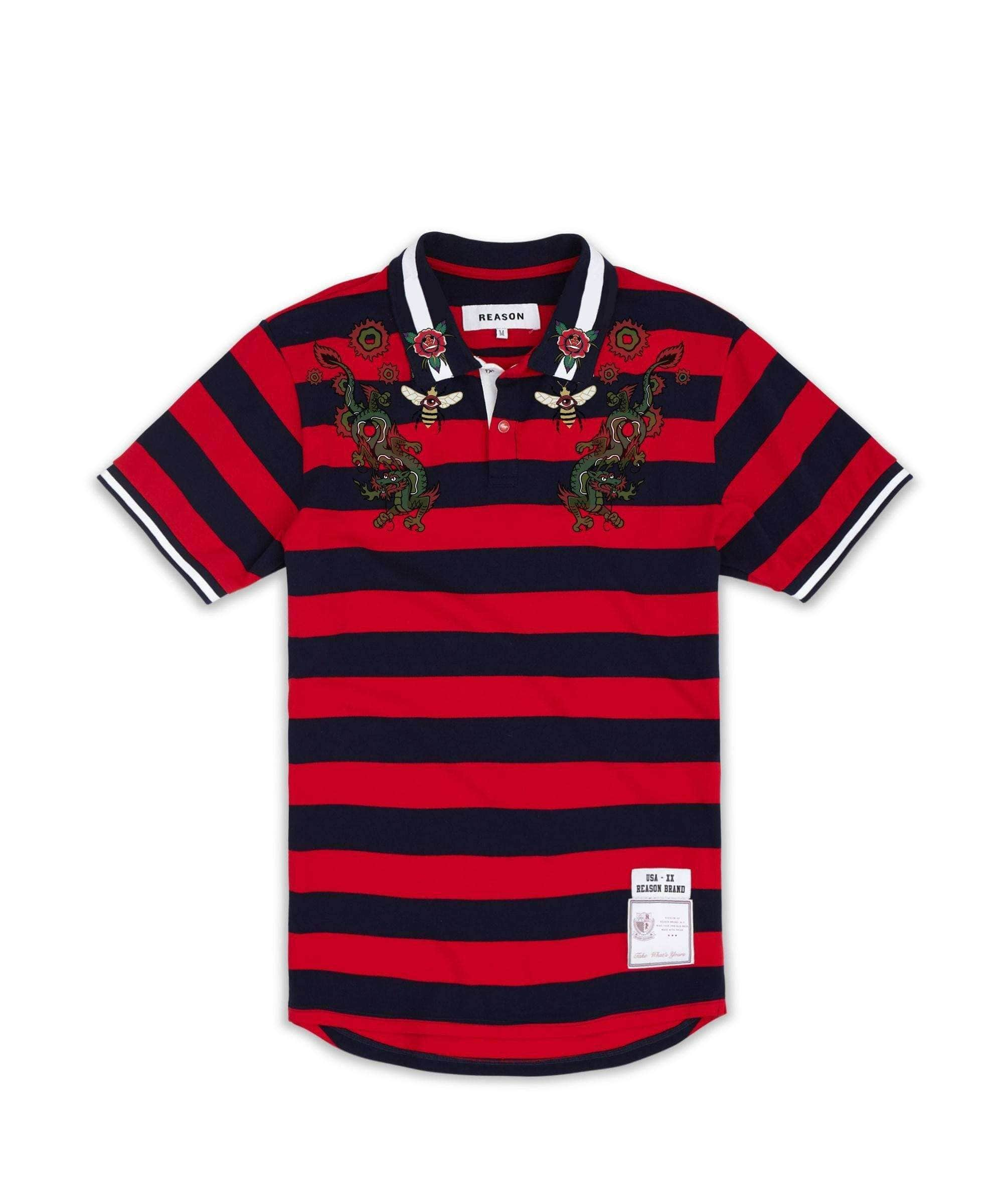 DRAGON POLO - RED - Reason Clothing