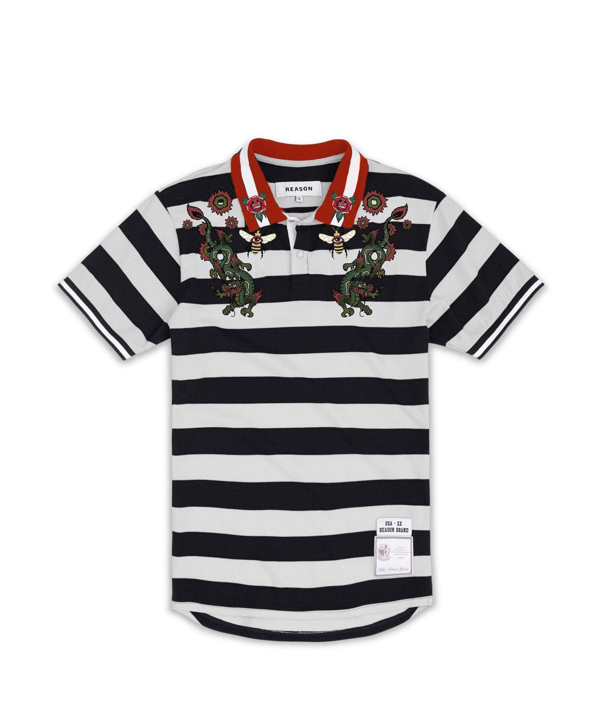 DRAGON POLO - BLACK - Reason Clothing
