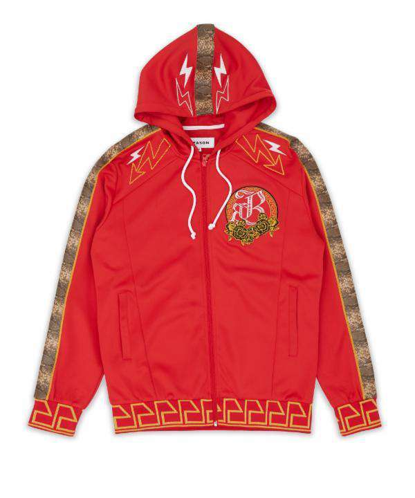 APOLLO TRACK HOOD - RED - Reason Clothing