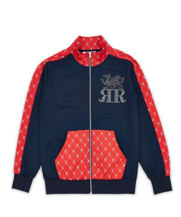 DRAGONS MONOGRAM TRACK JACKET - NAVY - Reason Clothing