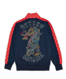 DRAGONS MONOGRAM TRACK JACKET - NAVY Reason Clothing