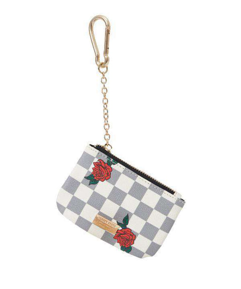 CHECK ROSE COIN POUCH - WHITE - Reason Clothing