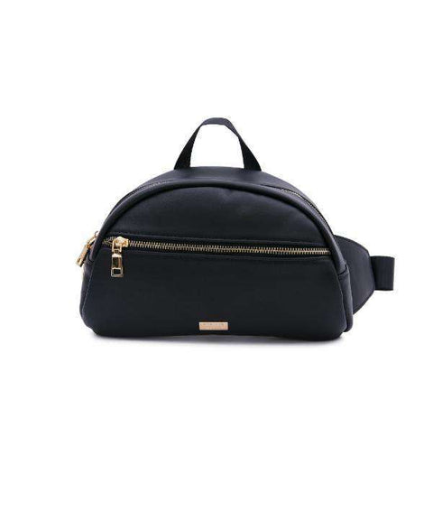 BLACK LEATHER BELT BAG - Reason Clothing