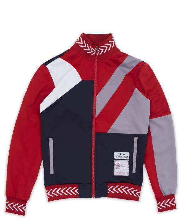 COURTSIDE TRACK JACKET - RED - Reason Clothing