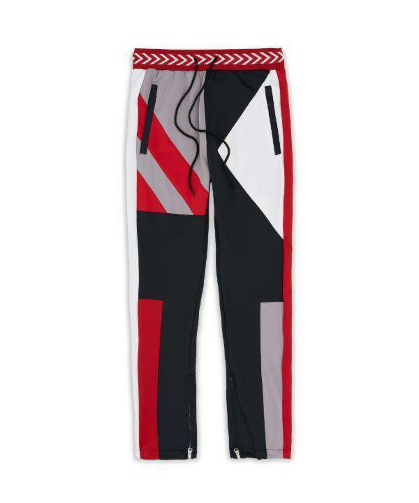 COURTSIDE TRACK PANT - RED - Reason Clothing