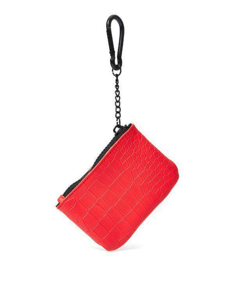 CROC SKIN COIN POUCH - RED - Reason Clothing